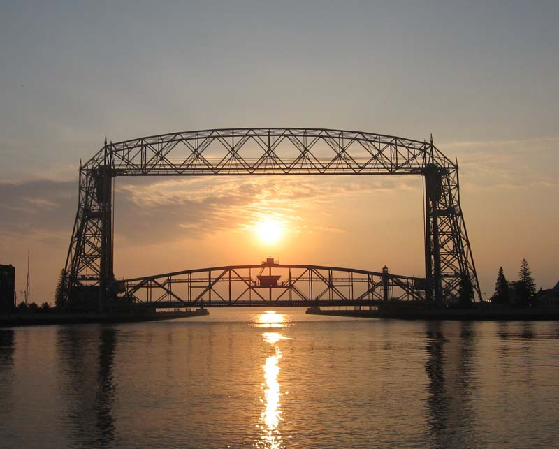 aerial lift bridge sunrise2